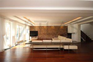 Pronájem luxusní vila 500 m2 s domkem pro hosty 7+1 Praha 6 - Dejvice, ul. V šáreckém údolí, obývací pokoj