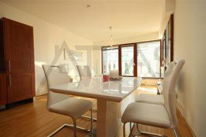 obývací pokoj - Pronájem zařízeného bytu 2+kk, 62 m2 Praha 8 - Karlín, Rohanské nábřeží River Diamond