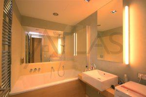 koupelna - Pronájem zařízeného bytu 2+kk, 62 m2 Praha 8 - Karlín, Rohanské nábřeží River Diamond