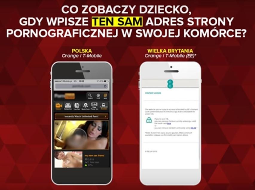 Obr. Co vidí dítě v Polsku a ve Velké Británii u stejného operátora - zdroj yt / yourasprawa