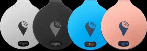 Zařízení TrackR v různém barevném provedení