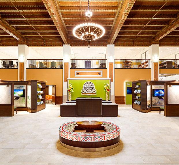 vstupní prostory ideální organizace Scientologické církve Kansas City, Missouri