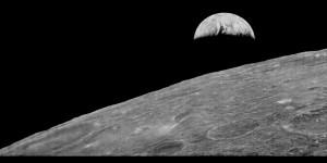 planeta Země na snímku pořízeném z Měsíce