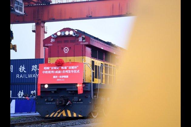 Čínsko-evropské nákladní vlaky odjíždějí z jihozápadní Číny na Nový rok